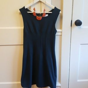 Anthro Deletta Navy Blue Sleeveless Dress